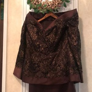 Custom made designer two piece suit